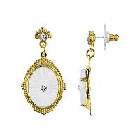 Downton Abbey Frosted Oval Drop Earrings