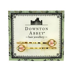 Downton Abbey Rose Bobby Pin Set