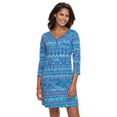 Women's Caribbean Joe Henley Dress