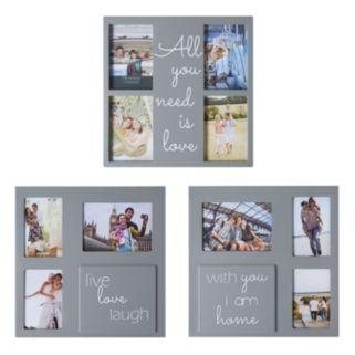 "Melannco ""Love"" Sentiment Collage Frame 3-piece Set"