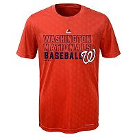 Boys 8-20 Majestic Washington Nationals Geo Plex Cool Base Tee