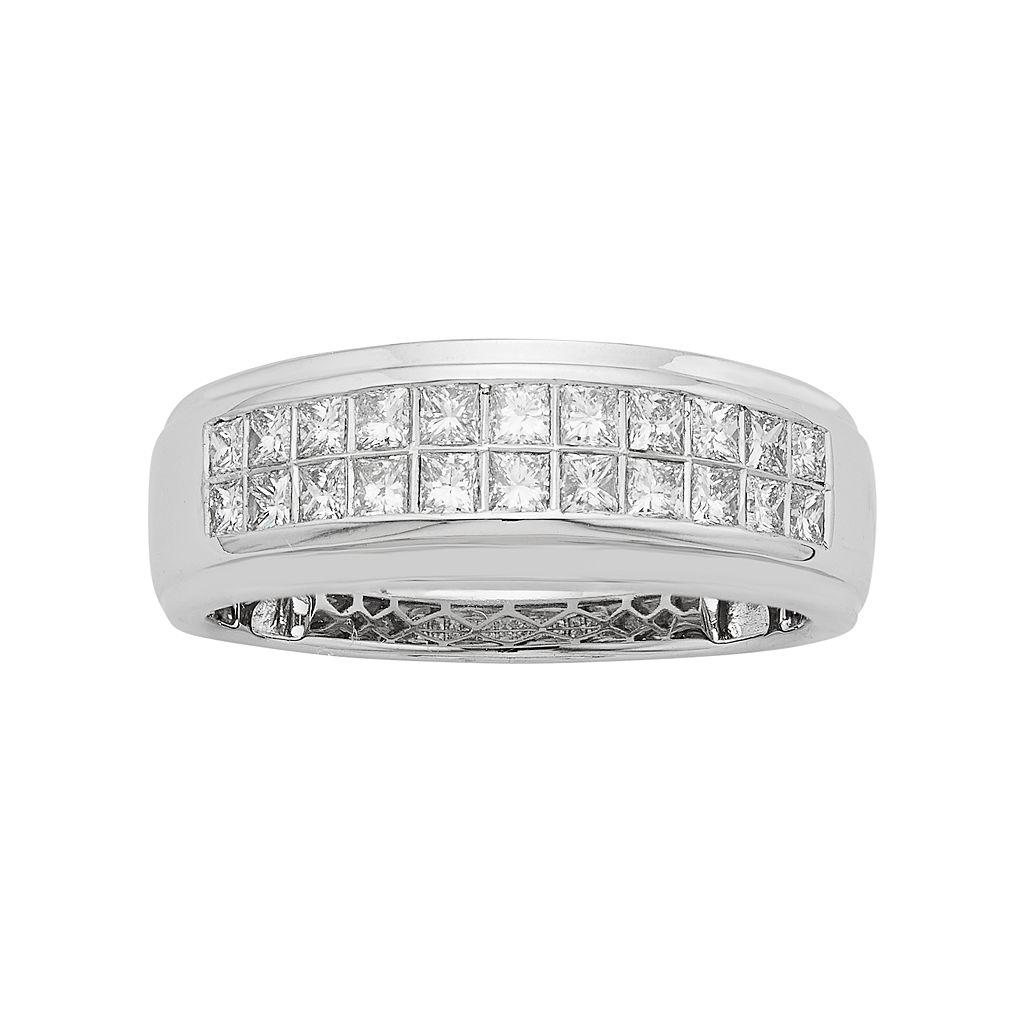 Men's 14k White Gold IGL Certified 1 Carat T.W. Diamond Wedding Band