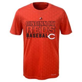 Boys 8-20 Majestic Cincinnati Reds Geo Plex Cool Base Tee