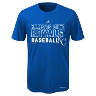 Boys 8-20 Majestic Kansas City Royals Geo Plex Cool Base Tee