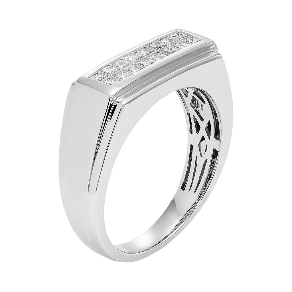 Men's 14k White Gold IGL Certified 1/2 Carat T.W. Diamond Wedding Band