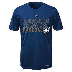 Boys 8-20 Majestic Milwaukee Brewers Geo Plex Cool Base Tee