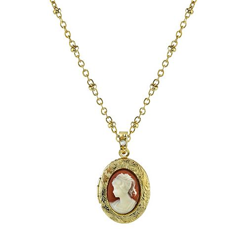 Downton Abbey Cameo Locket Necklace