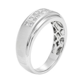 Men's 14k White Gold IGL Certified 1/2 Carat T.W. Diamond Wedding Band
