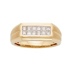 Men's 14k Gold IGL Certified 1/2 Carat T.W. Diamond Wedding Band