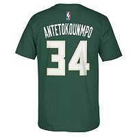 Men's adidas Milwaukee Bucks Giannis Antetokounmpo Name & Number Tee