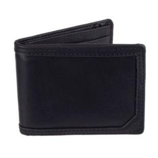Men's Dockers Passcase Wallet with Zipper Closure