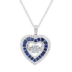 Diamond fascination 14k gold open heart pendant diamond double heart pendant necklace sale aloadofball Images