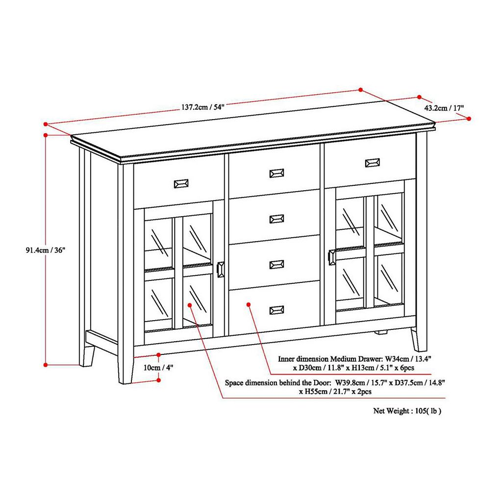 Simpli Home Artisan Sideboard Buffet Table