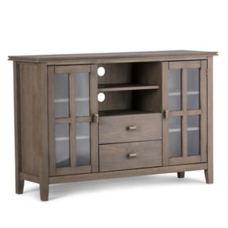 Simpli Home Artisan Tall Gray TV Stand
