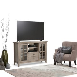 Simpli Home Artisan Tall Gray TV Stand