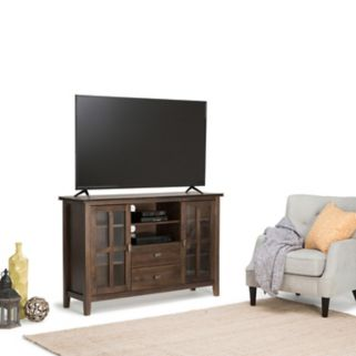 Simpli Home Artisan Tall Brown TV Stand