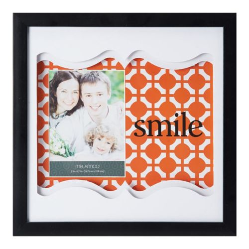"Melannco ""Smile"" 4"" x 6"" Shadow Box Frame"