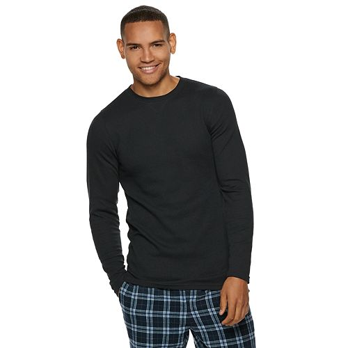 Mens hanes ultimate x temp waffle weave thermal tee publicscrutiny Choice Image