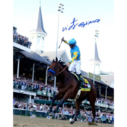 Steiner Sports Victor Espinoza Signed 2015 Kentucky Derby 8″ x 10″ Photo