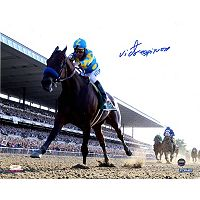 Steiner Sports Victor Espinoza Signed American Pharoah Leads The Pack 2015 Belmont 8
