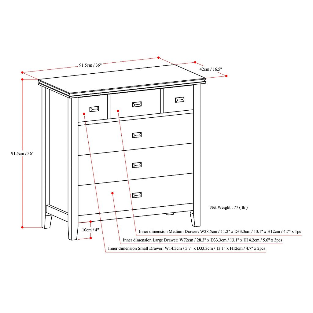 Simpli Home Artisan Bedroom Dresser