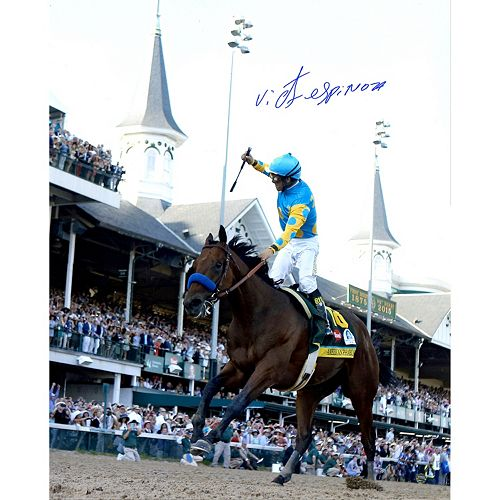 Steiner Sports Victor Espinoza Signed 2015 Kentucky Derby 16″ x 20″ Photo