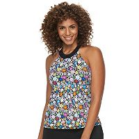 Women's A Shore Fit Hip Minimizer Halter Tankini Top