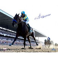 Steiner Sports Victor Espinoza Signed American Pharoah Leads The Pack 2015 Belmont 16
