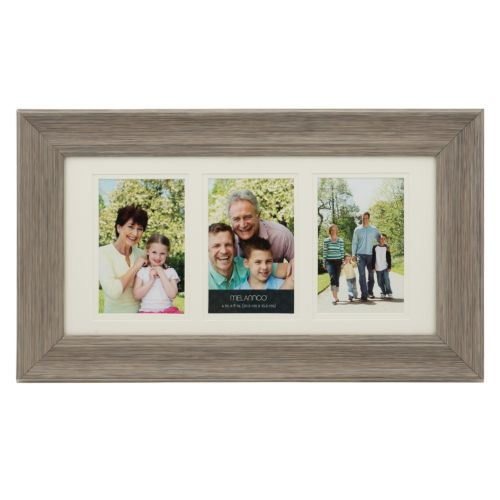 Melannco 3-Opening 4 x 6 Double Matted Collage Frame