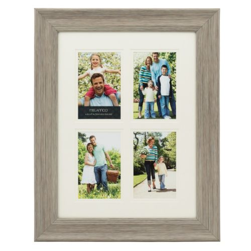 Melannco 4-Opening 4 x 6 Double Matted Collage Frame