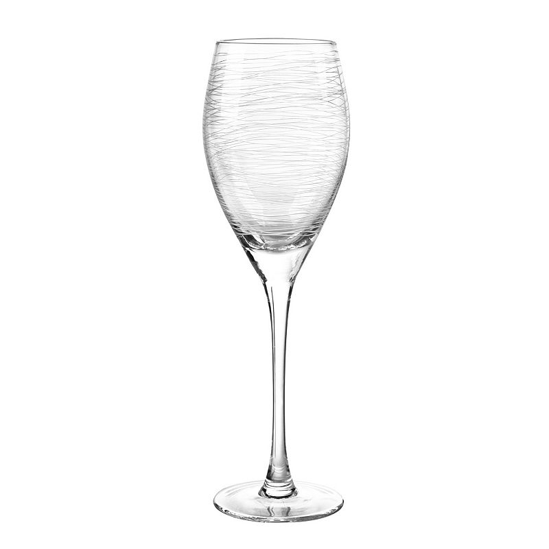 Qualia Glass Graffiti 4-pc. White Wine Glass Set, Multicolor