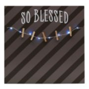 "Melannco LED ""So Blessed"" Photo Clip Bulletin Board"