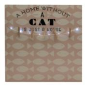 "Melannco LED ""A Home Without A Cat"" Photo Clip Bulletin Board"
