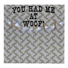 Melannco LED 'Had Me At Woof' Photo Clip Bulletin Board