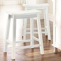 SONOMA Goods for Life™ 2-piece Cameron Saddle Counter Stool Set