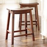 SONOMA Goods for Life? 2-piece Cameron Saddle Counter Stool Set