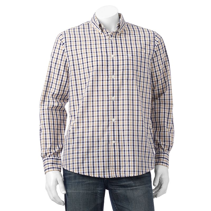 Men's Dockers® Plaid Woven Casual Button-Down Shirt