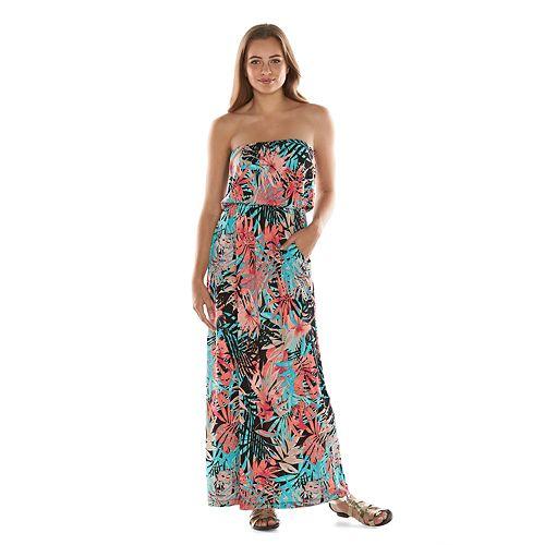 8a8a364b4 Juniors' Trixxi Tribal Popover Maxi Dress