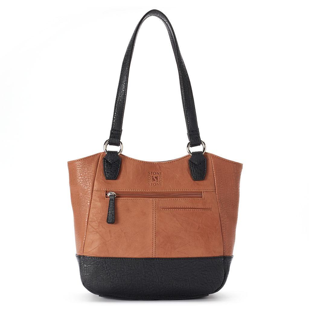 Stone & Co. Willa Curved Leather Tote