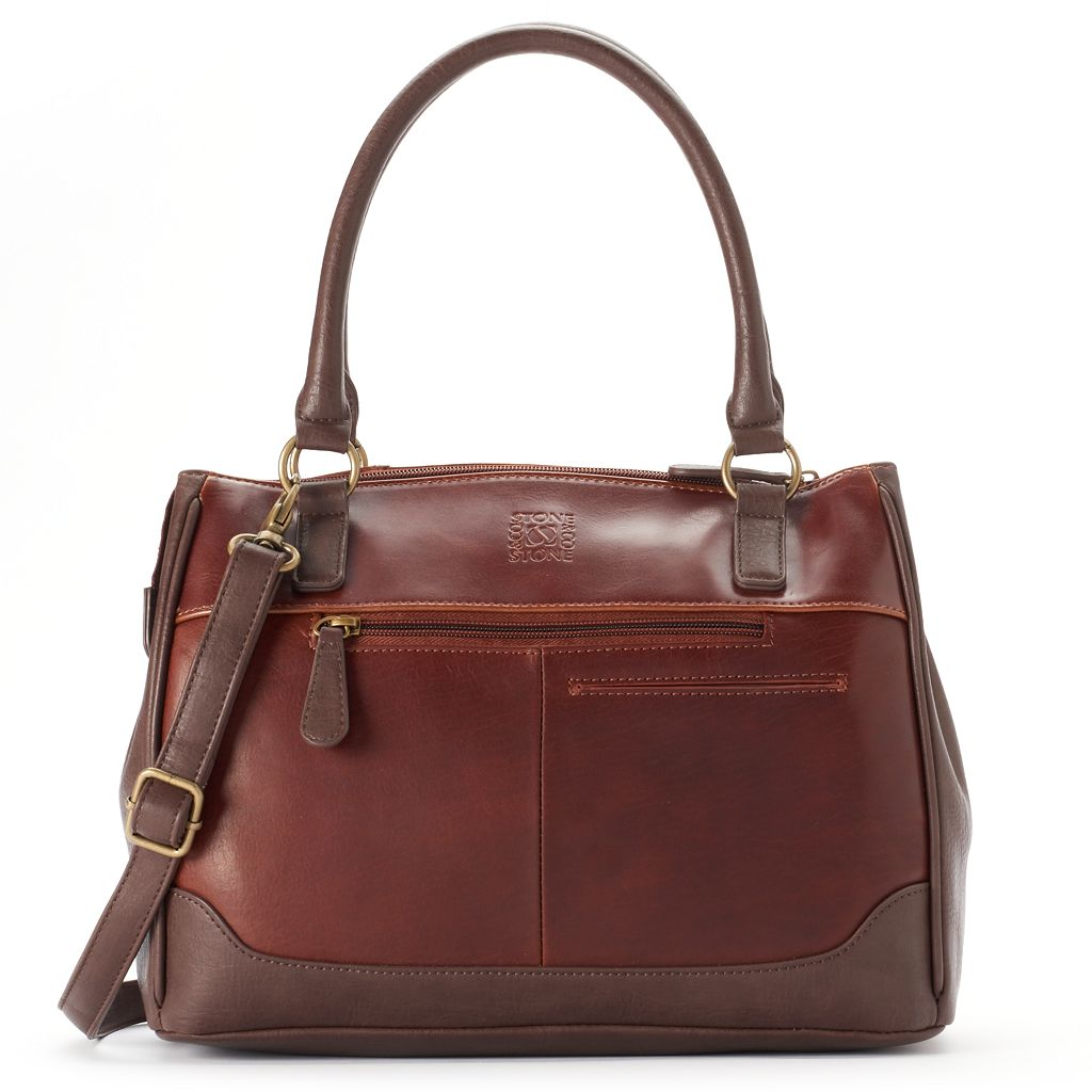 Stone & Co. Megan Convertible Leather Satchel