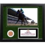 "Steiner Sports Victor Espinoza 2015 Belmont Stakes 11"" x 14"" Framed Collage with Dirt"