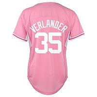 Girls 7-16 Majestic Detroit Tigers Justin Verlander Batting Practice MLB Jersey