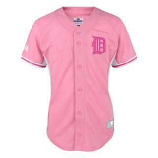 Girls 7-16 Majestic Detroit Tigers Justin Verlander Batting Practice MLB Jersey