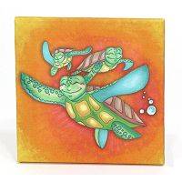 3 Stories Trading Co. Sea Turtle Journey Canvas Print