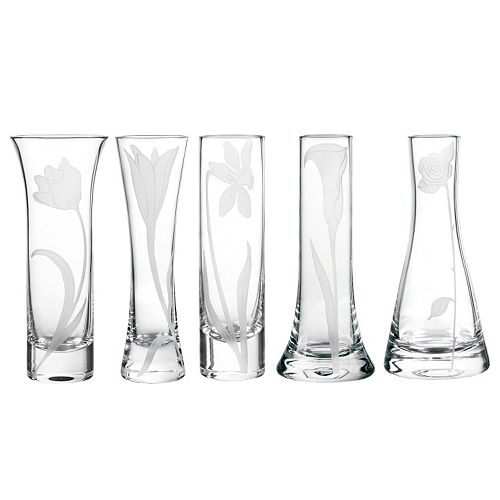 Qualia Glass Bouquet 5-pc. Bud Vase Set