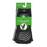 Gaiam 2-pk. Toeless Grippy Yoga Socks