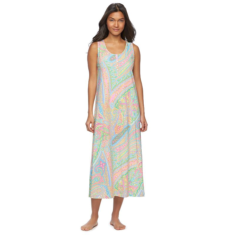 Women's Chaps Pajamas: Printed Maxi Nightgown