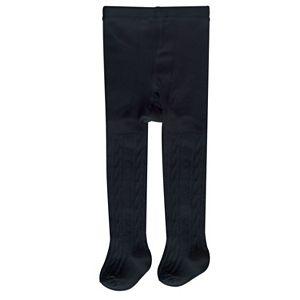 Baby / Toddler Girl OshKosh B'gosh® Cable-Knit Black Tights