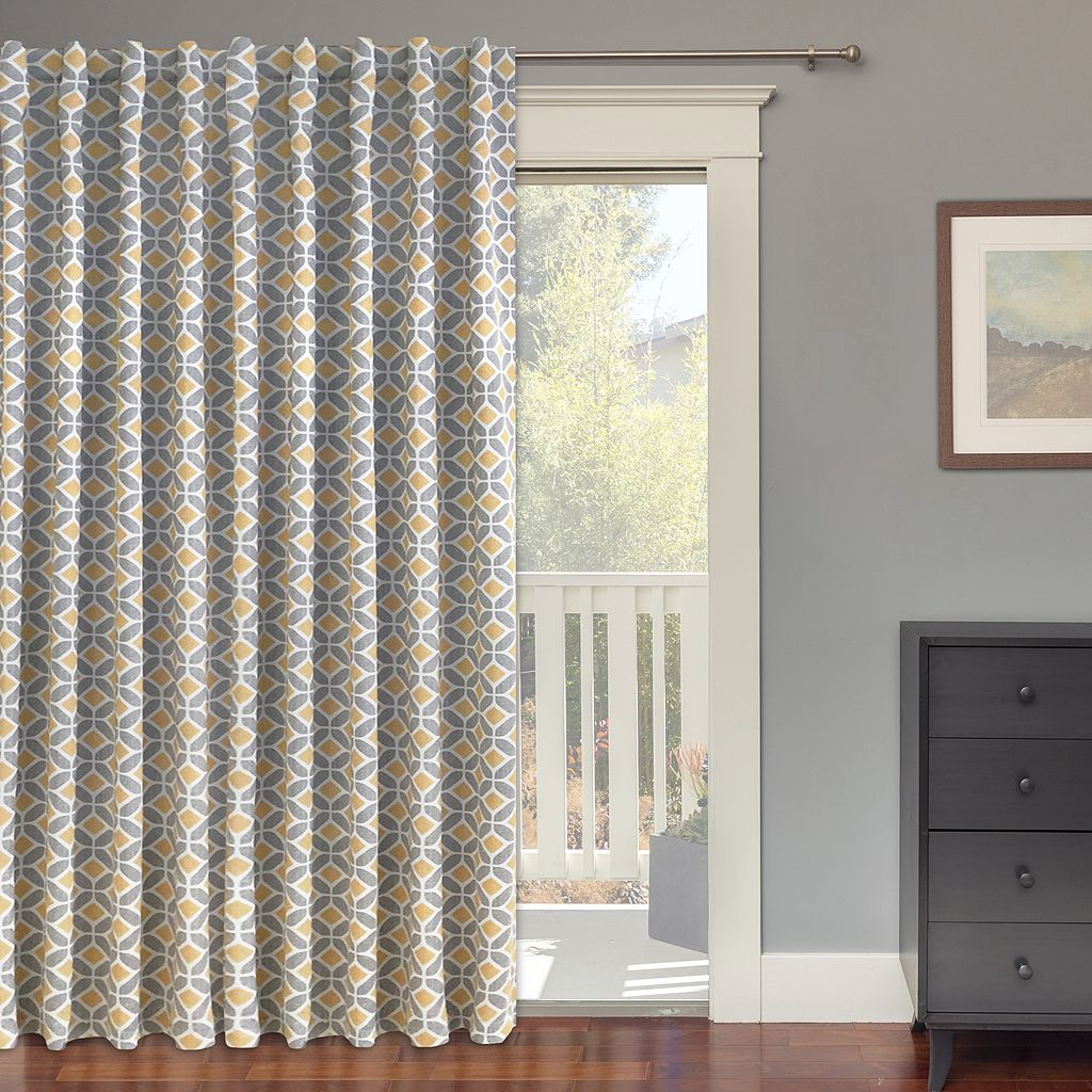 Colordrift Inner Circle Blackout Patio Door Curtain - 100'' x 84''