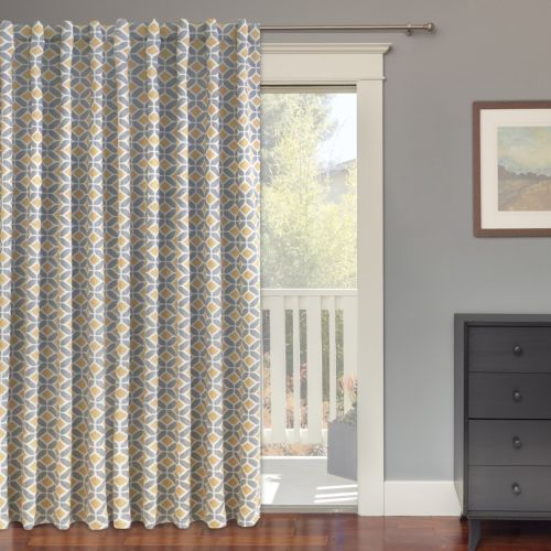 Colordrift Inner Circle Blackout Patio Door Curtain 100 X 84
